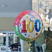 Happy 100th birthday ballon